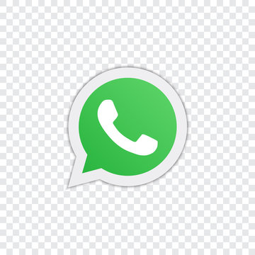 Whatsapp logo on a transparent background