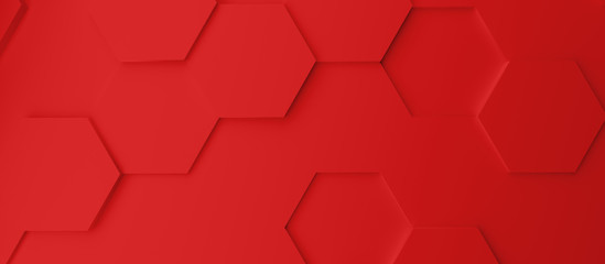 Abstract modern red homeycomb background Fotobehang