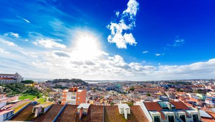 View on mediterranean houses in Lisbon