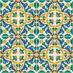 Endless pattern with geometric motif, vector decor