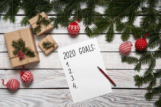 2020 Year goals list.