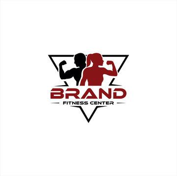 Fitness Center Logo . Sport and fitness logo Design . Gym Logo Icon Design Vector Stock
