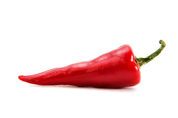 In de dag Hot chili peppers Red hot chili pepper isolated on a white
