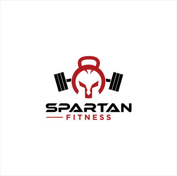 Spartan Fitness And Gym Logo Vector  . Fitness Logo . Bodybuilding Logo design inspiration