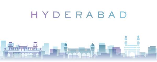 Hyderabad Transparent Layers Gradient Landmarks Skyline Fototapete