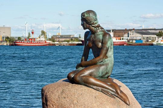 The Little Mermaid in Copenhagen on September 7, 2015 in Copenhagen, Denmark