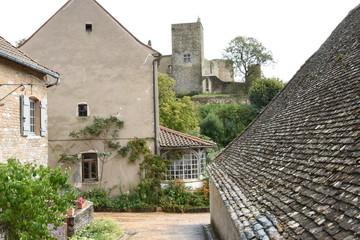 Burgundian village with castle