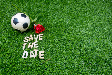 Soccer save the date with football