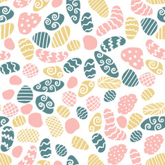 Minimalist scandinavian style seamless pattern with stones in doodle style. Surface design for textile and wallpaper.