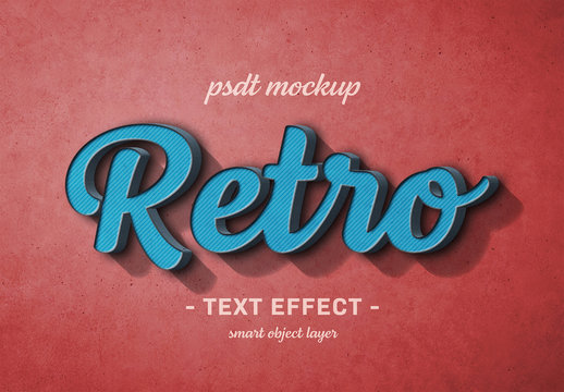 Colorful Retro Text Effect
