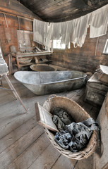Old Fashioned Bathtub and Laundry