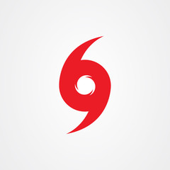 Hurricane symbol, abstract hurricane icon.