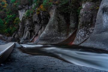Papiers peints Rivière de la forêt Downstream in the Darkness