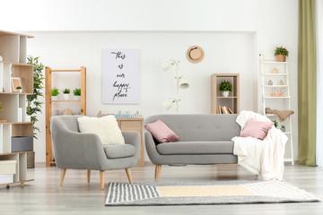 Interior of modern comfortable room