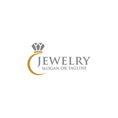 Abstract diamond for jewelry business logo design concept
