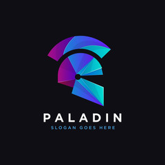 Paladin logo, warrior logo, spartan logo icon inspiration with modern style