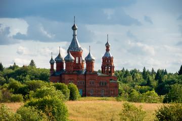 Volgoverkhovye Olginsky convent Church Transfiguration in Russia Tver Region source Volga