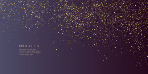 Bright vector illustration Magic rain of sparkling glittery particles lines. Fotomurales