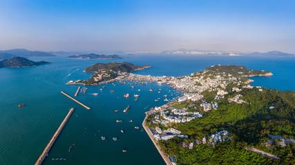 Fotomurales - Aerial view sunset at Cheung Chau island of Hong Kong