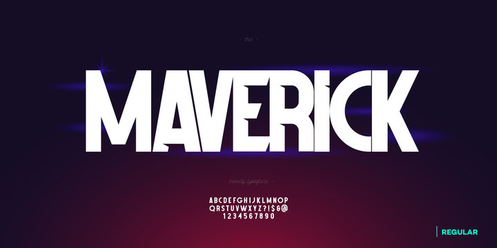 Vector abstract font trendy typography for infographics, motion graphics