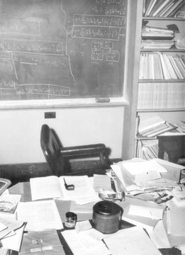Albert Einstein's study at the institute for Advance Study at Princeton University