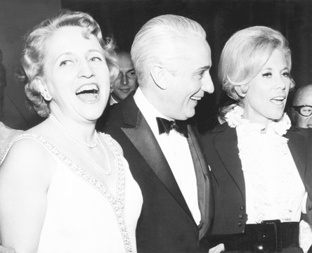 Margaret Truman Daniel and husband Clifton with entertainer Dinah Shore at her new supper club