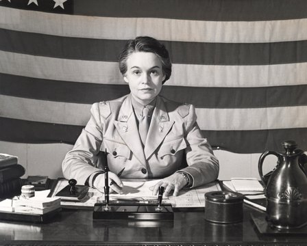 Oveta Culp Hobby, Director of the of the U.S. Women's Army Auxiliary Corps during World War II