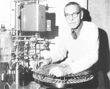 Dr. Alfred D. Hershey, 60, awarded 1969 Nobel Prize for Medicine. Oct. 16, 1969. Dr. Hershey
