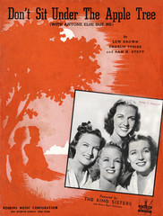 Don't Sit Under the Apple Tree, sheet music for song by Lew Brown, Charlie Tobias, Sam H. Stept