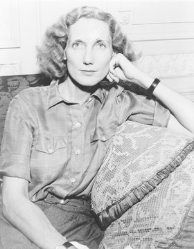 Beryl Markham (1902-1986), British born emigrant to Kenya, grew up among Africans.She learned to fly in the 1920's, earned her living as bush pilot, and eventually gained fame in 1936 for her solo flight from England to Canada. 1936