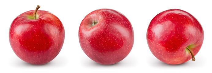 Red apple isolate. Apples on white background. Apple set with clipping path.