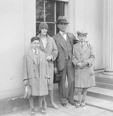 Rube Goldberg (1883-1970), with his family, wife Irma Seeman, Thomas and George