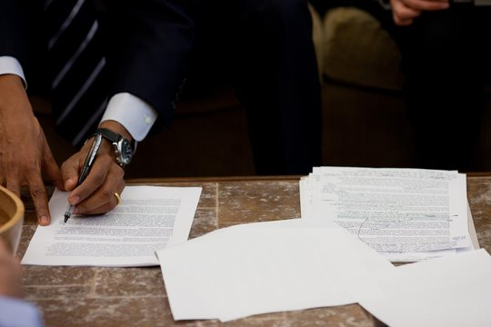 President Barack Obama works on a speech in the Oval Office Sept. 7 2010