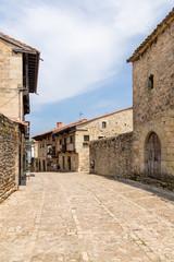Santillana del Mar, Spain. Old architecture on the street La Carrera
