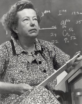 Dr. Maria Goeppert Mayer, theoretical and chemical physicist, worked on the Manhattan Project. In
