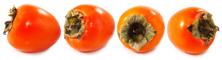 isolated image of persimmons closeup