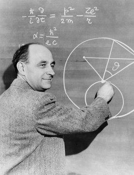 Enrico Fermi, Italian-American physicist. Ca. 1945-50. - (bsloc_2015_1_74)