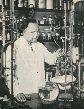 Percy Julian, African American chemist, c. 1940s. At the Glidden Company, he designed methods