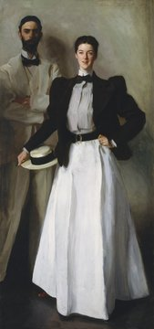Mr. And Mrs. I. N. Phelps Stokes, by John Singer Sargent, 1897, American painting, oil on canvas