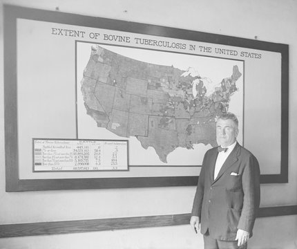 Dr. J. A. Kierman headed Tuberculosis Eradication in the U.S. Dept. of Agriculture. Sept. 17, 1924