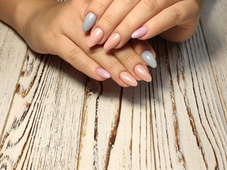 Foto op Canvas Manicure Fashionable design of manicure on beautiful pens