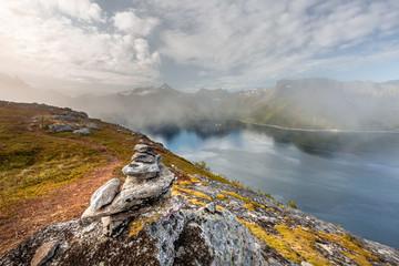 Zelfklevend Fotobehang Chocoladebruin Norway amazing nature
