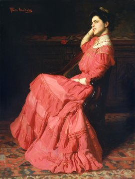 A Rose, by Thomas Anshutz, 1907, American painting, oil on canvas