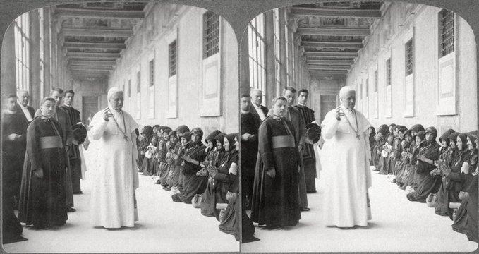 Pope Pius X, Blessing Pilgrims at Vatican, 1903