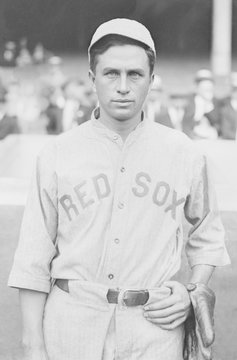 Harry Hooper played for the Boston Red Sox baseball team from 1909-1920