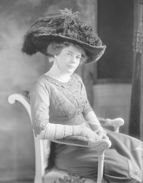Portrait of Ethel Roosevelt, the younger of President Theodore Roosevelts two daughters