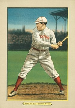 Tris Speaker, 1911 baseball card, published when he was with the Boston Red Sox