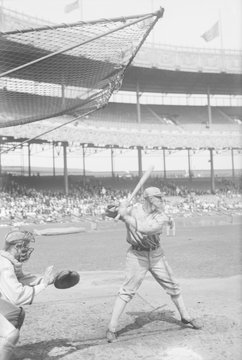 John F. Shano Collins at bat for the Chicago White Sox in 1920. Photo was taken in a game against