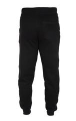 Fototapeta Blank training jogger pants color black back view on white background obraz