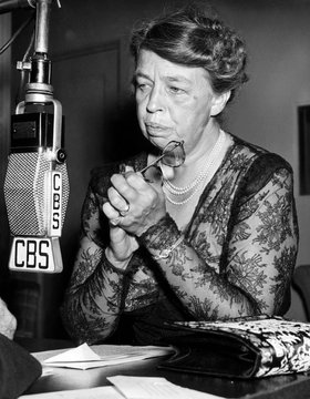 Former First Lady Eleanor Roosevelt (1884-1962), c. 1949